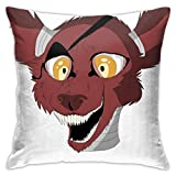Throw Pillowcase Protectors Five Nights at Freddies Foxy Merchandise Funda de almohada cuadrada Funda de almohada Throw Pillow Funda de sofá Cojín Cojín de coche Decoraciones de interior Silla Funda