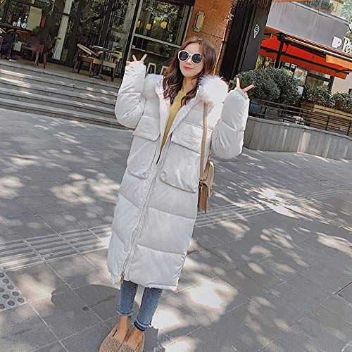 WFSDKN dames parka bontkraag winterjas vrouwen dunne mantel - mode vrouwelijke standaard jas vrouwen parka warm casual plus size lange jas parka