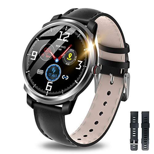 【2020革新デザイン】 itDEAL スマートウォッチ Bluetooth5.0 活動量計 歩数計 心拍計 健康管理 多運動モード IP68完全防水 着信通知 音楽再生コントロール GPS運動記録 消費カロリー 睡眠モニター 長い待機時間 iPhone/Android対応