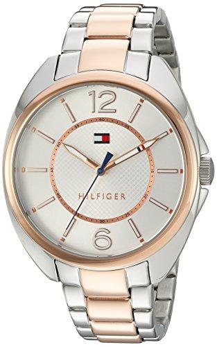 Tommy Hilfiger Damen Analog Quarz Uhr mit Edelstahl beschichtet Armband 1781696