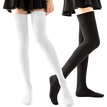 1 Pair Students Loaded Above Knee Thigh High Stockings Long Socks Elegant Gift