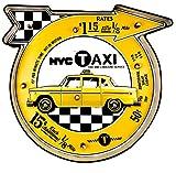 DiiliHiiri Cartel Retro Luminoso Garage Estilo Vintage Letrero Metálico Artesania Accesorios para Decoración Hogar de Años 50 New Your Taxi