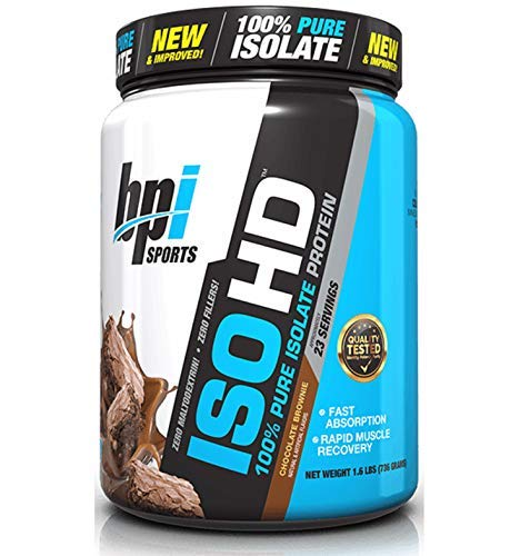 BPI Sports ISO HD Whey Protein Isolate and Hydrolysate, Chocolate...