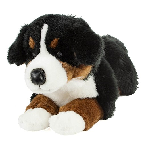Teddys Rothenburg Kuscheltier Berner Sennenhund 45 cm liegend braun/schwarz/weiß Plüschbernersennenhund