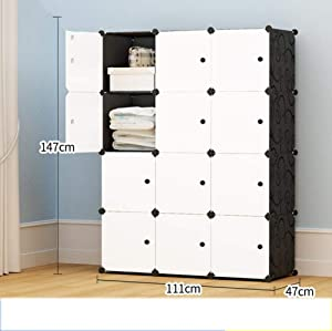 Guoz Simple Portable Closet Plastic Assembly Bedroom Closet Storage Closet Plastic Folding Clothes Cabinet Cupboards