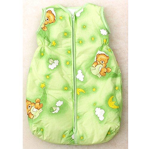 Babyschlafsack, 68-74cm, grün Bär