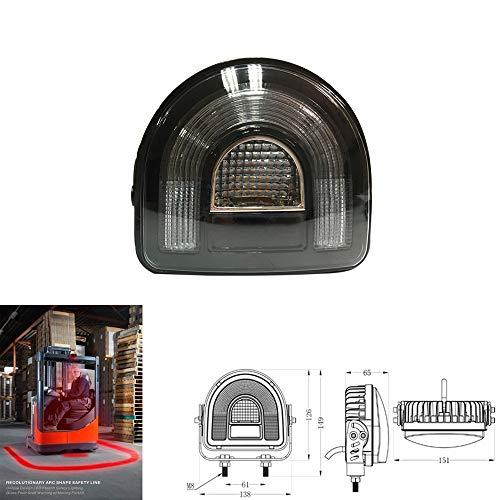 SXMA 18W Arco Rojo Carretilla elevadora Lámpara led Luz de Advertencia de Seguridad 12-24V Luz LED para Tractor de camión Todoterreno