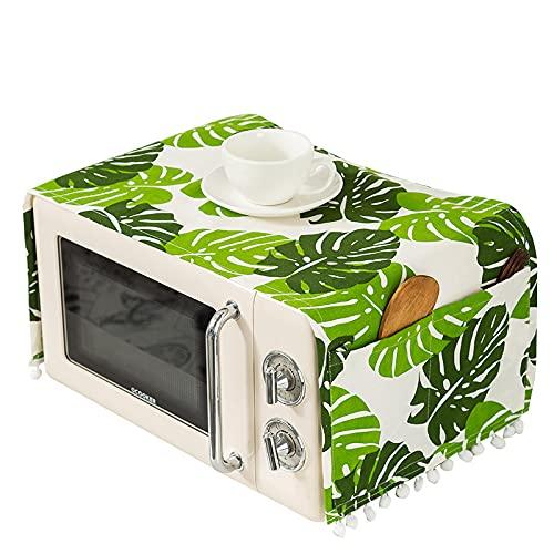 YMZ Cubierta protectora de lino para horno microondas y microondas, resistente al agua, con bolsa de almacenamiento, accesorios de cocina, decoración del hogar 30 x 90 cm