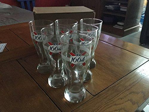 lot de 6 verres a biere 1664 kronenbourg 25cl 25 cl neuf
