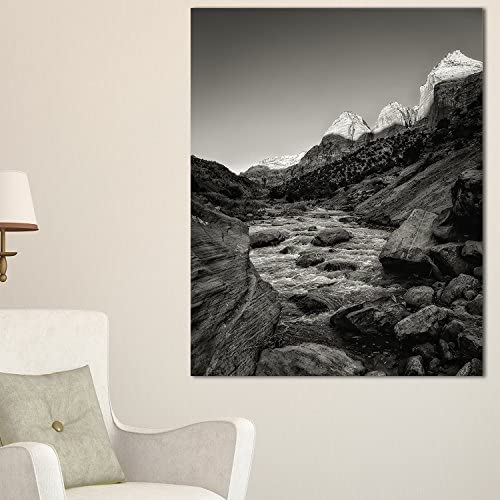 Amazon Com Designart Pt8983 12 20 Dark Rapid Virgin River Landscape Photography Canvas Print 12x20 20 H X 12 W X 1 D 1p Black Posters Prints