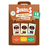 Denzel's Healthy Dog Treats - Low Calorie, Low Fat, Grain Free, Hypoallergenic, Soft-baked Dog Chews - Meat Medley Multipack: Nut Butter, Pure Paleo, High Protein - (Total 18 Chews)