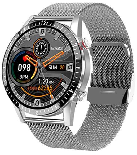 X&Z-XAOY Reloj Inteligente para Hombre Pulsera Inteligente Rastreador De Ejercicios Llamada Bluetooth Música Reloj Deportivo Impermeable IP68 Smart Watch Male para iOS Android (Color : J)