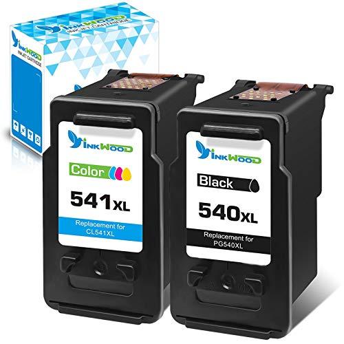 Inkwood 2 Paquets pg 540xl cl 541xl rechargement des Cartouches d 'Encre 540 - 541 pour Canon pixma mg2250s ts5150 ts5151 mg3650 mg3500 mg3200 mg3500 mx535 mx455 mg2255 mg3100 mg3150
