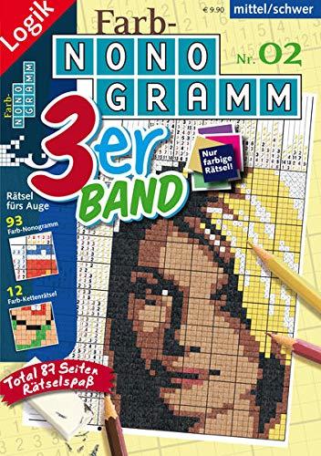 Farb-Nonogramm 3er-Band Nr. 02 (Farb-Nonogramm 3er-Band: Rätsel fürs Auge)