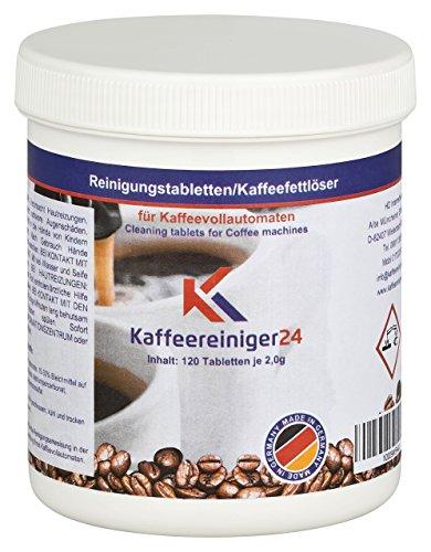 120 Reinigungstabletten für Kaffeevollautomaten je 2g - Hochwertige Reinigungstabs geeignet für Jura, Siemens, Melitta, Krups uvm. - Made in Germany