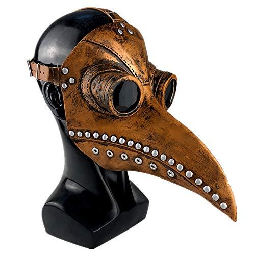 Cosplay Steampunk Plague Doctor Mask Latex Birds Beak Masks Halloween Art Cosplay Black
