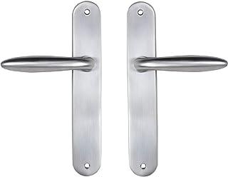 Bricard 984052 - Juego de tiradores para puerta interior sin llave (zamak), color plateado