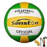 Senston Ballon de Volley, Ballon de Beach-Volley Soft Touch pour Adultes et Enfants