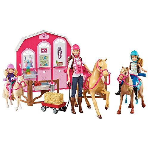 Barbie Coffret de Jeu Poupe Barbie Ranch et Cheval DMR52