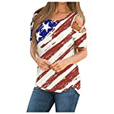 Trendy Tops for Women 2021 Summer Criscross Strappy Cold Shoulder Tee Shirts Casual Short Sleeve Blouse