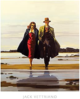 The Road to Nowhere Jack Vettriano Romance Vintage Print Poster 15.75x19.75