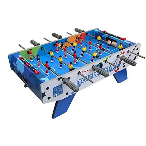 Fußball Tischfußballspiele Hochwertige Faserplatten Leicht Zu Reinigen Edelstahl Club Rutschfester Griff Entwickeln Intelligenz Geschenk für Kinder (Color : BLUE, Size : 69.5 * 36.5 * 24CM)