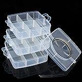 Tutoy Boîte de Rangement en Plastique Transparent Box 3 Outil de la Bijouterie Bijoux Craft - M