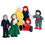 BINO 83563 - Puppenfamilie, 6 Personen