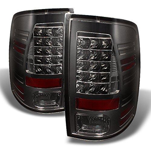For Dodge Ram 1500 2500 3500 Pickup Truck Rear LED Tail Light Signal Brake Lamps Smoke Lens Left + Right