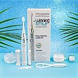 Winning Smile Kit dental de cepillo de dientes eléctrico para adultos - Mejor tecnología de limpieza Sonic Power - cepillos de dientes electrónicos recargables
