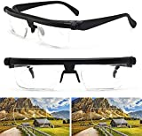 Reading Glasses Adjustable Strength, Lens Variable Focus Distance Vision Best, Focus Adjustable Eyeglasses for Men and Women 6D to +3D Diopters Myopia Magnifying Glass HD Anti-Fatigue (2 PCS)