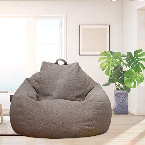 You's Auto - Pouf per divano, senza imbottitura, in tessuto di lino, 3 misure