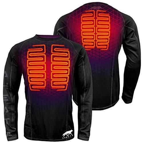 Aheata 7V Battery Heated Shirt for Men – Heating Base Layer Shirt for Winter Hiking, Skiing,...