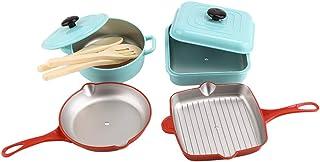 Perfeclan 9点入り キッチン 調理器具セット シミュレーション ごっこ遊び  知育玩具 マルチカラー 安全