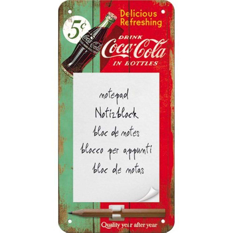 アクロバット流暢親密なコカ?コーラ Coca-Cola - Delicious Refreshing Green/マグネット付き メモパッド (ブリキ製)