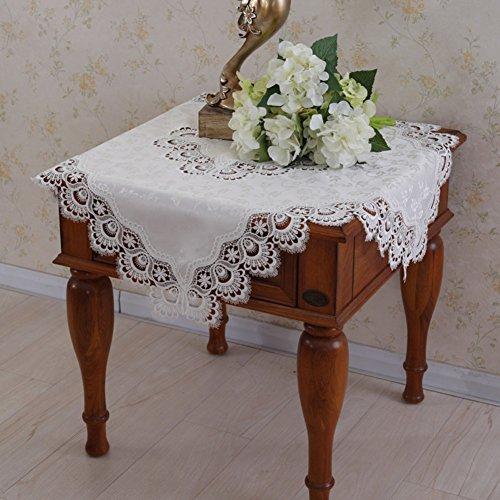 Kanten tafelkleed/nachtkast/TV afdekdoek/koelkast/Europese stijl wit tafelkleed/tafeldoek/stoffen/Magnetron sjaal-A 60x60cm (24x24inch)