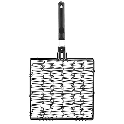 Mr. Bar-B-Q 06620Y Non Stick Flexible Basket with Folding Handle