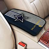 Dallas Cowboys Universal Auto Center Console Pad, Waterproof Car Armrest Cover Seat Box Cover Protector fit Most Car Vehicle SUV Truck Car 12.6x7.5 inch