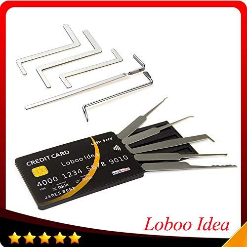 Loboo Idea 10-teiliges Werkzeug für die Schlosser-Schlosser-Auswahl Enthält ein 5-teiliges Werkzeugset für die Schlosser-Schlosser-Auswahl mit einem Werkzeugsatz für die Kreditkarten-Schlosser-Auswahl