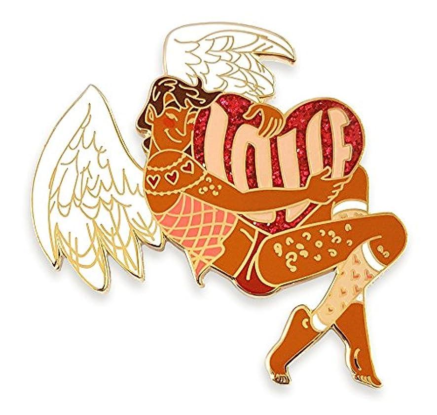 Pinsanity Cupid Pin Up Boy Enamel Lapel Pin