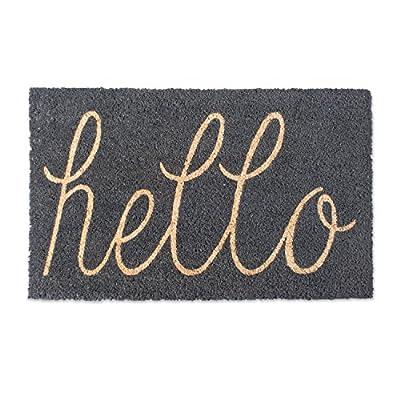 DII CAMZ37063 Hello Coir Doormat, 18 x 30, Gray