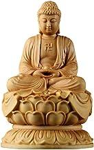 HYBAUDP Statues Boxwood Buddha Statue, Sakyamuni Buddha Statue, Home Dedication, Religious Supplies, Home Decorations, 6×6...