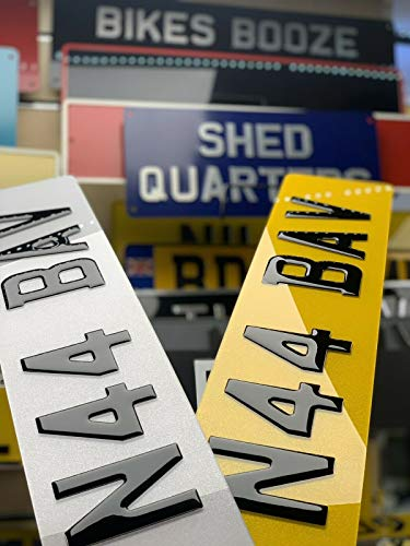 Number Plate Clinic 3D Gloss Black Resin Gel Registration Plates [PAIR] - Front & Rear