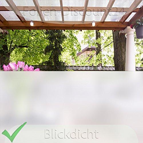 Folien-Discount24 (EUR 4,17 / Quadratmeter) Fensterfolie Sichtschutzfolie Milchglasfolie 120 cm Breite x 100 cm Glasdekorfolie