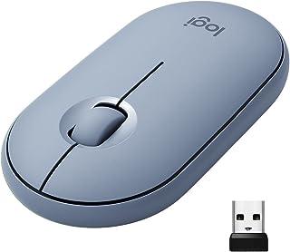 Logitech Pebble M350 Wireless Mouse, Nowoczesna, Smukła I Cicha Mysz Bezprzewodowa I Bluetooth, Pc/Mac/Chromebook/Ipad - N...