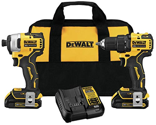 Dewalt DCK278C2R ATOMIC 20V MAX 2-Tool Brushless Compact Combo Kit (Renewed)