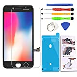 Compatible with iPhone 7 Black Screen Replacement 4.7 Inch, LCD Screen Display Touch Digitizer Assembly for iPhone 7 Compatible with Model A1660, A1778, A1779