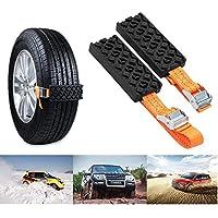 SUNWAN - Cadena antideslizante para nieve, 2 unidades, para neumáticos de coche, para emergencias