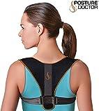 Cisne 2013, S.L. Corrector de Postura para Espalda, Hombros y clavicula Unisex para Hombre y Mujer. Faja para Dolor de Espalda Chaleco Corrector. Talla Unica Color Negro