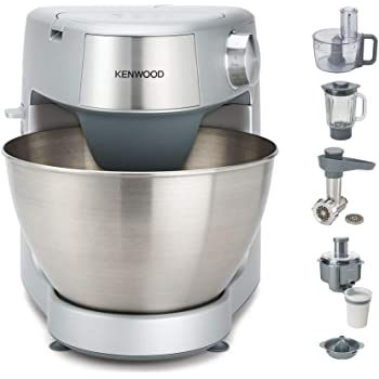 Kenwood Prospero+ KHC29.P0SI - Robot de cocina multifunción 1000 W, 4.3 L, mezcla, bate, amasa, batidora de vaso 1.5 L, procesador alimentos 1.4 L, 3 discos, exprimidor, picadora, licuadora, plata: Amazon.es: Hogar
